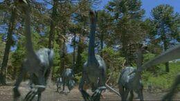 1x1 OrnithomimusFlockRunningAwayFromNigel