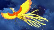 Hinata flying through the sky