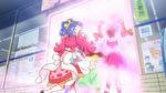 PCDS Sakura pushes Aoi Himari Ichika through a portal