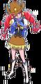 Blue Bomber Girl Stance