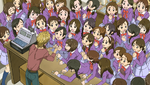 YPC510 Nuts counter overwhelmed with girls