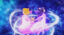 The two girls and mofurun spin around