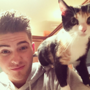 Cute Cody and cute cat