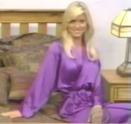 Teri Harrison in Satin Sleepwear-19