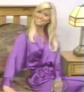 Teri Harrison in Satin Sleepwear-18