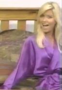 Teri Harrison in Satin Sleepwear-1