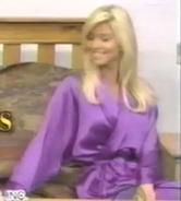 Teri Harrison in Satin Sleepwear-4