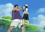 5.Tanishi carrying Ryoma