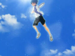 Prince-of-tennis-echizen-vs-yukimura-i-estimate-thats-at-least-3-meters-in-the-air