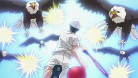 Echizen Ryoma hitting 5 at a time