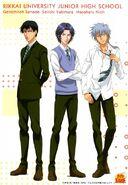 Various RIkkai uniforms Yukimura, Sanada and Niou