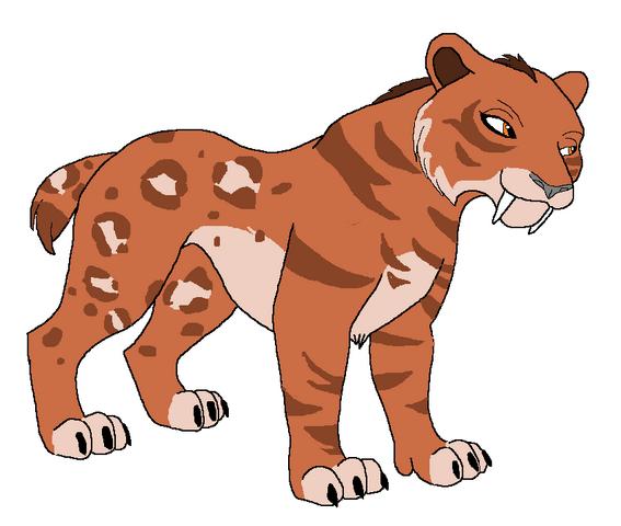 File:Smilodon free line art by goldfirestorm3-d6d024q.png