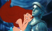 Ariel with Eric's statue