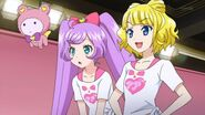 Laala, Mirei and Kuma in training room