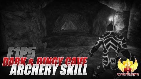 Project Gorgon Pre-Alpha Gameplay E1P5 Dark & Dingy Cave ★ Archery Skill