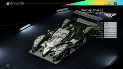 Project Cars Garage - Bentley Speed8
