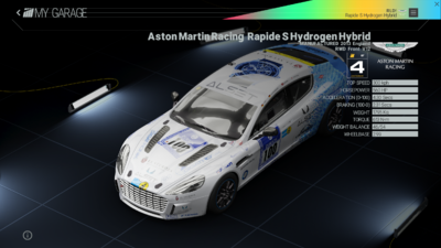 Project Cars Garage - Aston Martin Racing Rapide S Hydrogen Hybrid