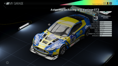 Project Cars Garage - Aston Martin Racing V12 Vantage GT3