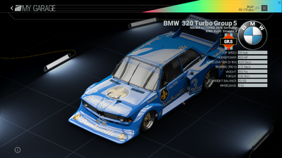 Project Cars Garage - BMW 320 Turbo Group 5