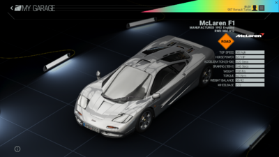 Project Cars Garage - McLaren F1