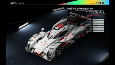 Project Cars Garage - Audi R18 e-tron quattro