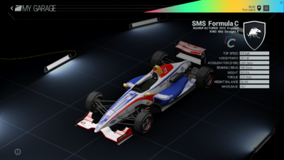 Project Cars Garage - SMS Formula C