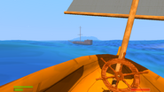 Broken pirate ship