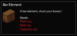 Bar element Info