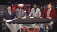 Josh Mathews, Mick Foley, Booker T & The Miz - WWE TLC 2013 panelist team