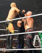 Kane double chokeslam