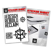 Seth Rollins Redesign, Rebuild, Reclaim Sticker Sheet