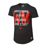 WrestleMania 33 WM Black T-Shirt
