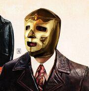 Gold Luchador Mask