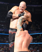 Kane attacking Punk