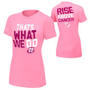 Mark Henry Rise Above Cancer Pink Women's T-Shirt