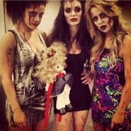 Paige, Bayley, Emma 2013 NXT Halloween