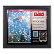 Goldberg Return to RAW Commemorative 15 x 17 Framed Plaque w Ring Canvas