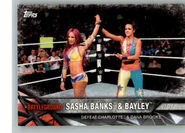 2017 WWE Road to WrestleMania Trading Cards (Topps) Sasha Banks & Bayley 98