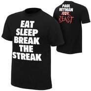 Brock Lesnar & Paul Heyman Eat,Sleep, Break The Streak T-Shirt