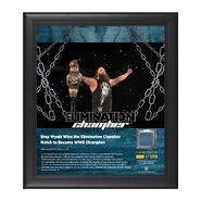 Bray Wyatt Elimination Chamber 2017 15 x 17 Framed Plaque w Ring Canvas