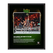 Dean Ambrose Money In The Bank 2016 Ladder Match 10 x 13 Photo Plaque