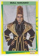 1995 WWF Wrestling Trading Cards (Merlin) Bull Nakano 4