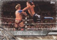 2017 WWE Road to WrestleMania Trading Cards (Topps) AJ Styles 12