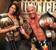 Angle as the TNA World Heavyweight, TNA World Tag Team, TNA X Division & IWGP 3rd Belt Champions