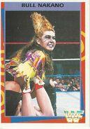 1995 WWF Wrestling Trading Cards (Merlin) Bull Nakano 49