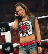 AJ in CM Punk outfit
