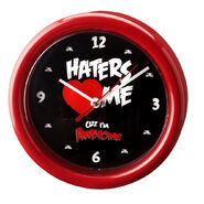 The Miz Haters 3 Me Wall Clock