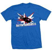 The Blossom Twins British Bombshells Blue Shirt