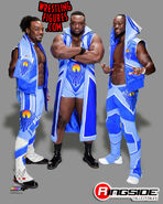 New Day - WWE 16x20 Canvas Print