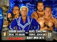 Bubba Ray Dudley Ric Flair vs Big Show Chris Jericho